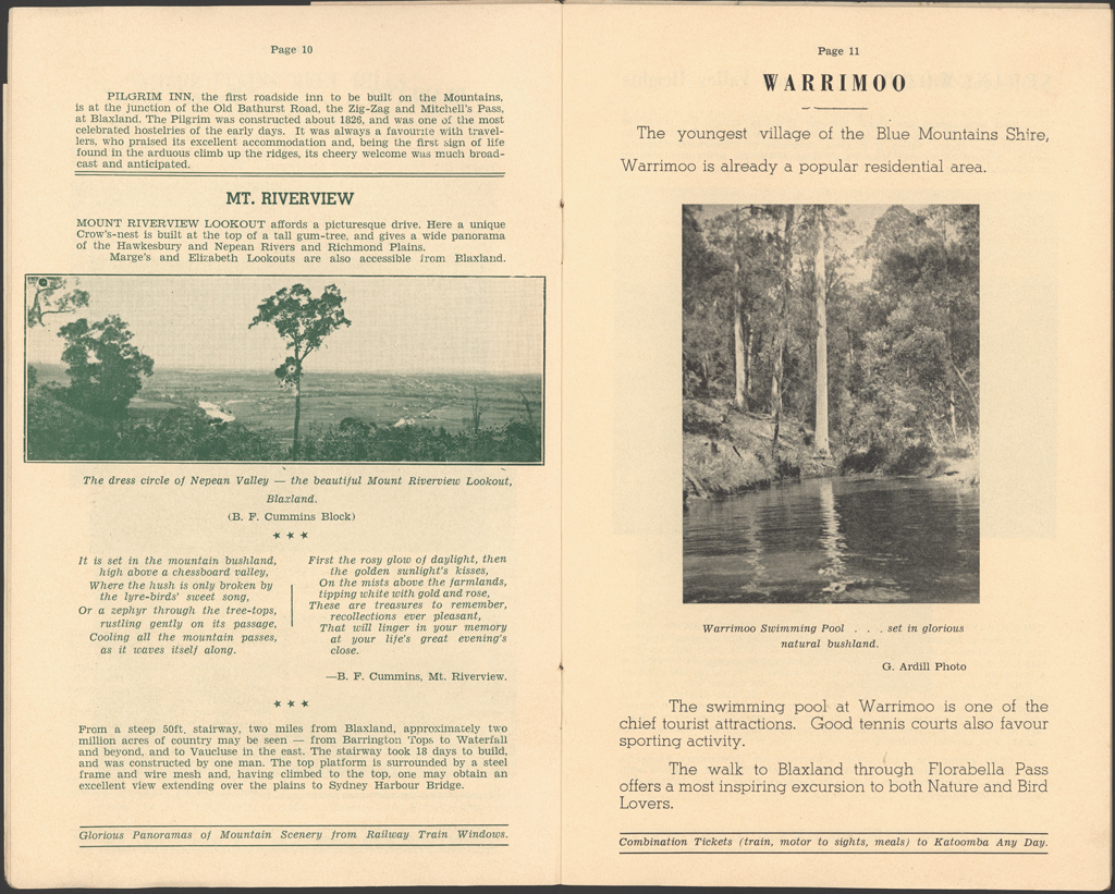 Albums of Travel and Advertising Brochures | NSW State Archives