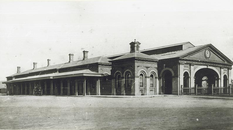 [Western side of the old Sydney Railway Station (NSW)]