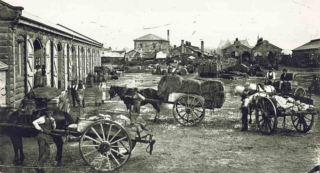 [The goods yard, Depot and Machine Shop centre at the old Sydney Railway Station (NSW)]