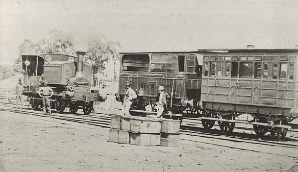 [Class P127 No.29 locomotive with luggage van and second class car on the Richmond line]