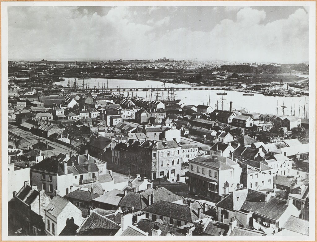 [Darling Harbour from St Phillip's Church]