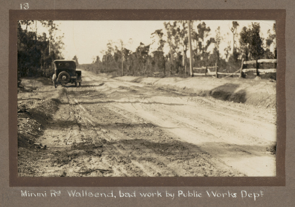 13 - Minmi Rd Wallsend, bad work by Public Works Dept [Department]