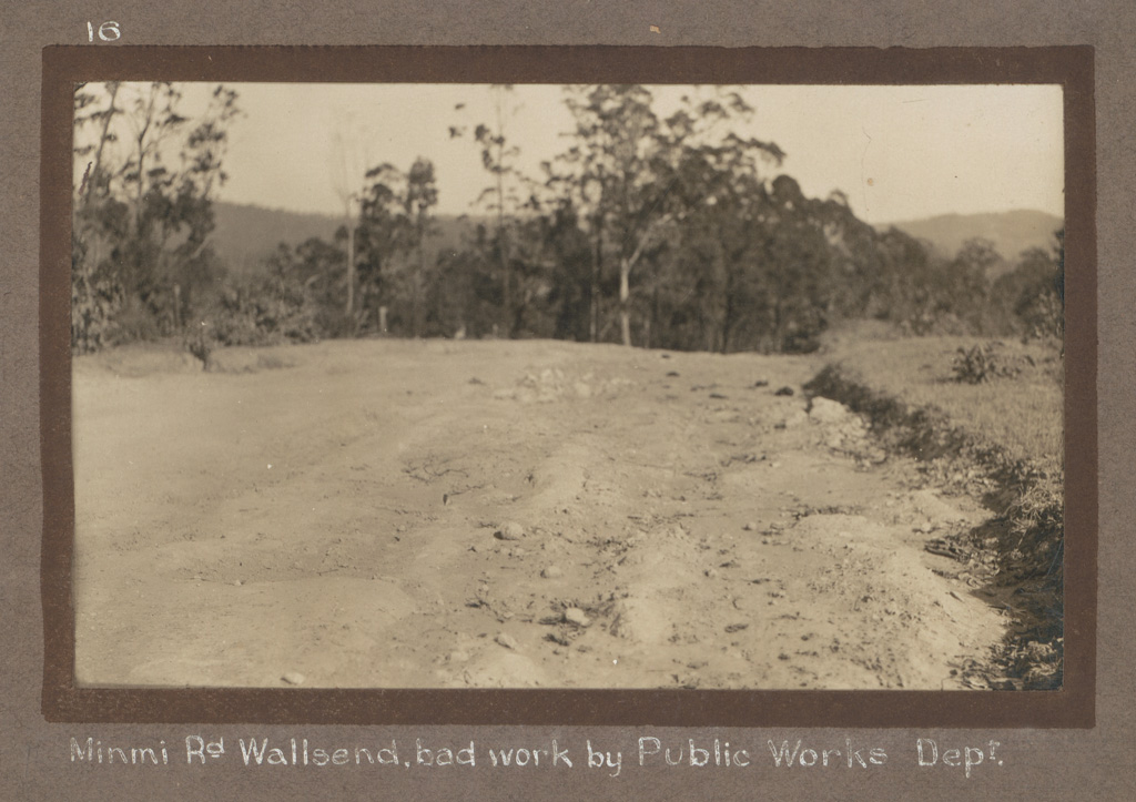 16 - Minmi Rd Wallsend, bad work by Public Works Dept [Department]