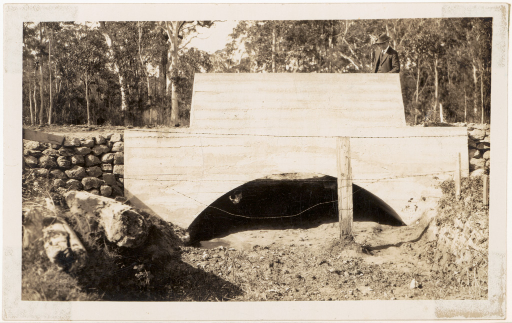 L3 - Princes Highway Clyde Shire - Shire Engineer Chisholm's concrete culvert.