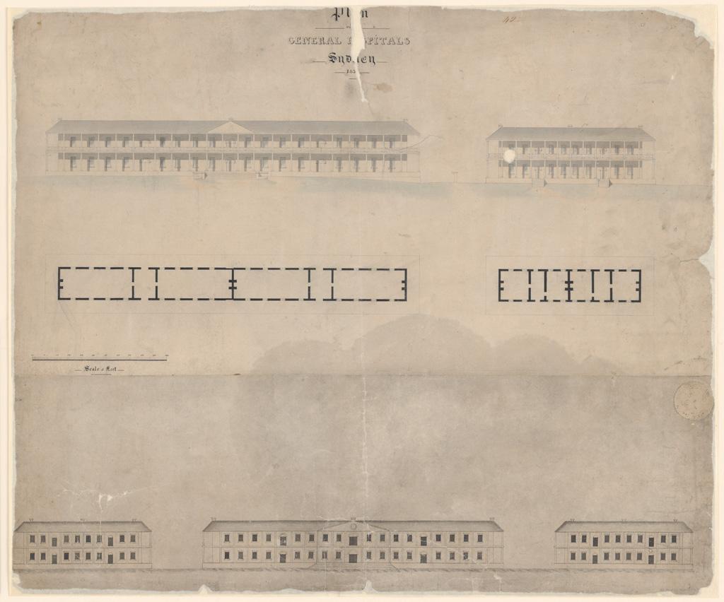 Plan of General Hospitals Sydney 183[?]