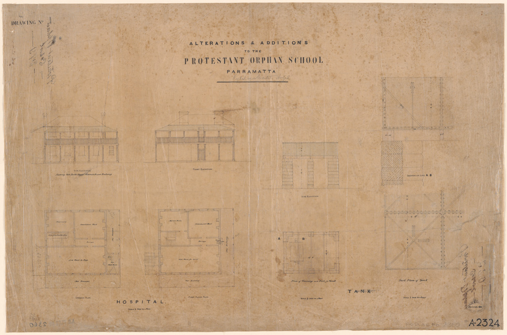 Parramatta Alterations & Additions to the Protestant Orphan School Parramatta Drawing 1