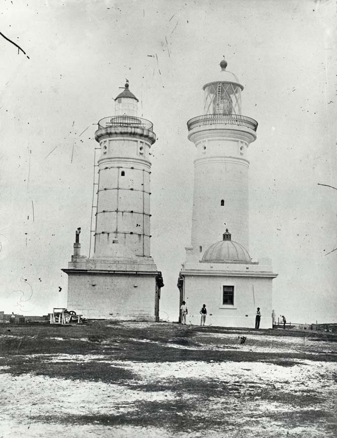 Macquarie Lighthouse - old and new towers, Sydney (NSW)