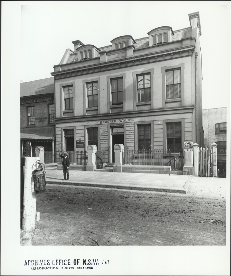 [Premises of Bunker and Wolfe, Auctioneers, 33 Castlereagh Street, Sydney (NSW)]