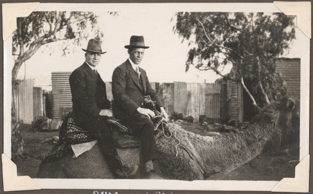 Broken Hill - R.W.S, L.G.W [riding camel]