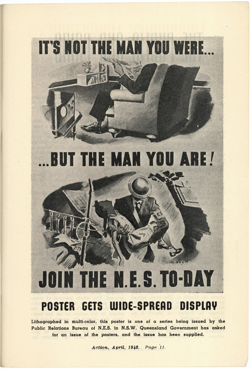 It is not the man you were... but the man you are! Join the N.E.S. to-day