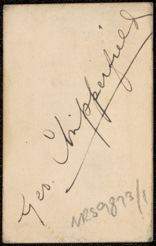Photograph of George Joseph Chipperfield doctor [reverse]