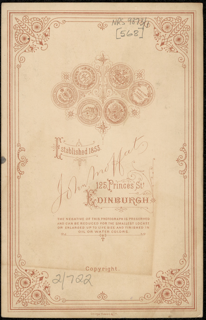 Photograph of Frederick William Marshall doctor [reverse]