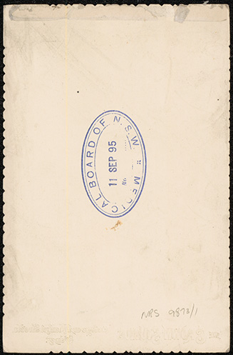 Photograph of Frederick Talbot Driffield Clindening doctor [reverse]