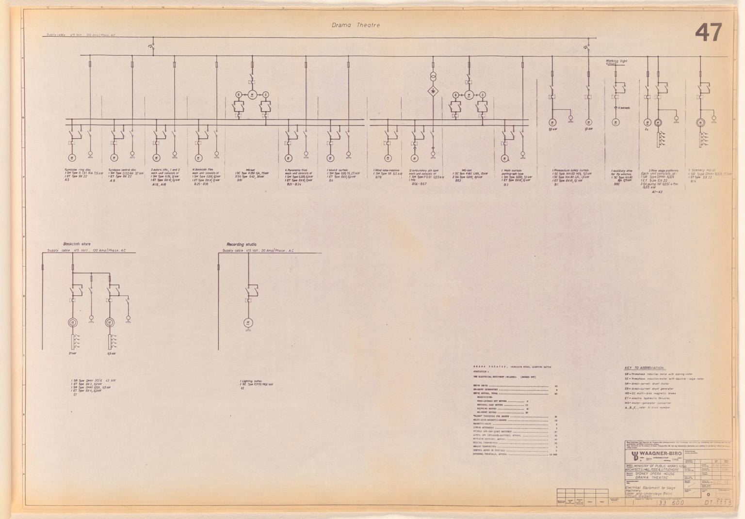 Stage Machinery Assembly Drawings For Major Hall Minor And Capacitorreformingcircuit Basiccircuit Circuit Diagram Sydney Opera House Drama Theatre Electrical Equipment Upper Understage Basic