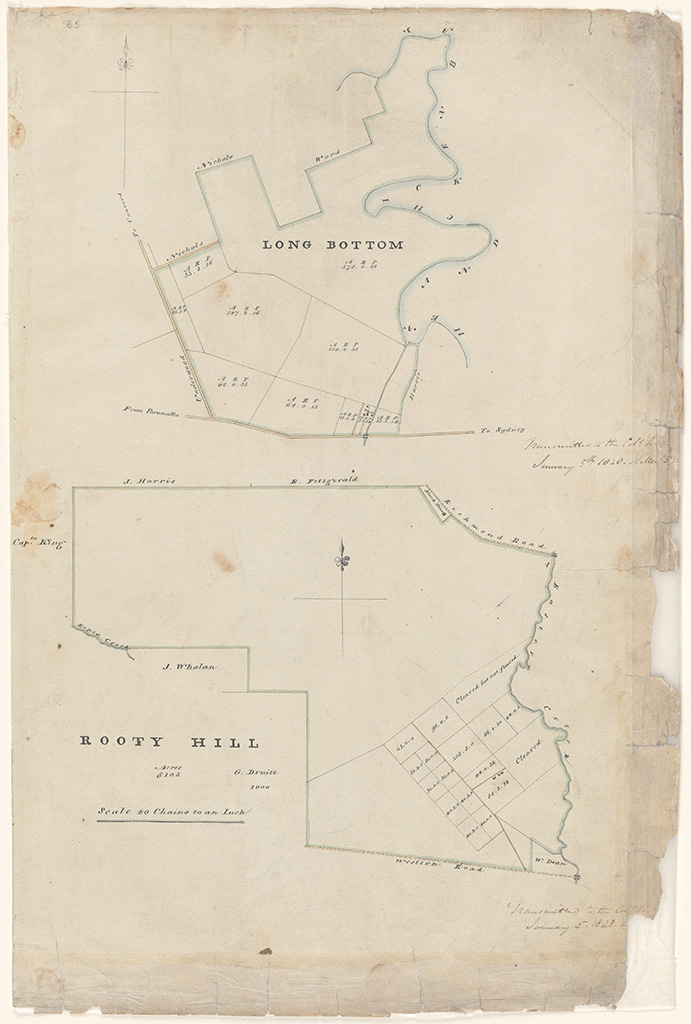 Rooty Hill - Area 8103 acres church grant [Sketch book 1 folio 5]