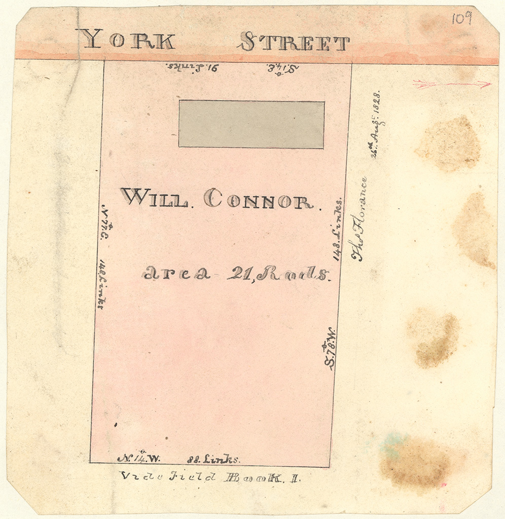 Sydney St Andrew - Will Connor's allotment York Street [Sketch book 1 folio 27]