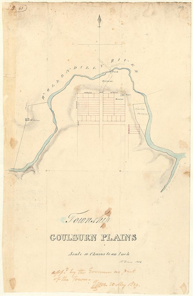 Goulburn Plains - Township Goulburn Plains [Sketch book 1 folio 61]