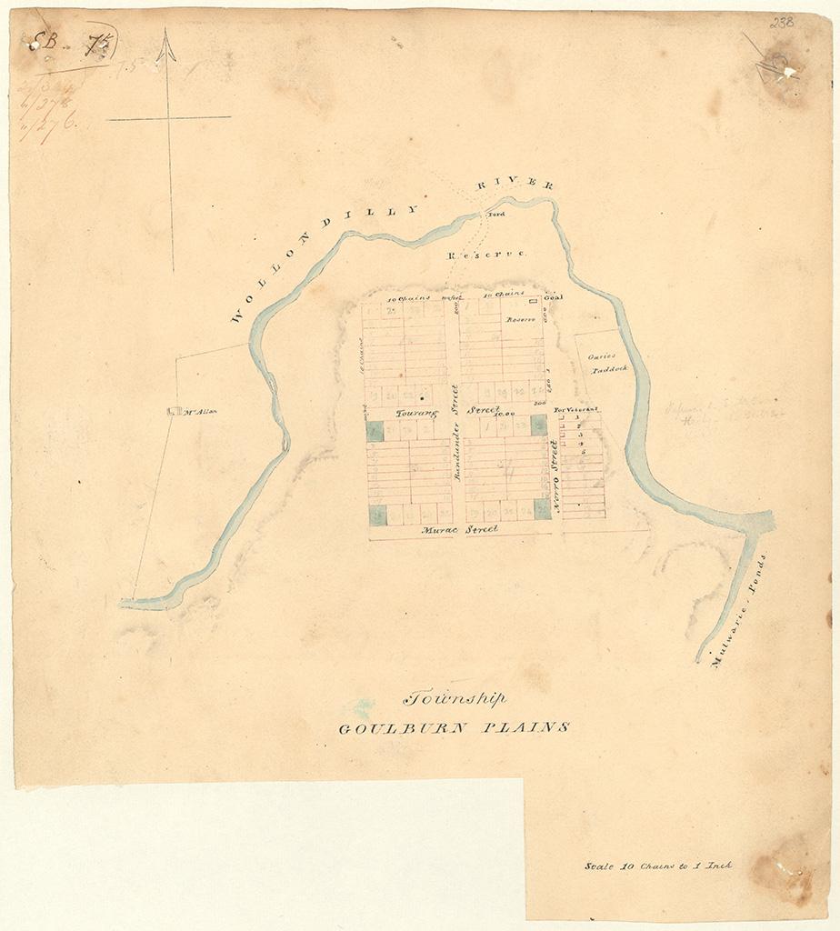 Goulburn Plains - Township Goulburn Plains [Sketch book 1 folio 75]