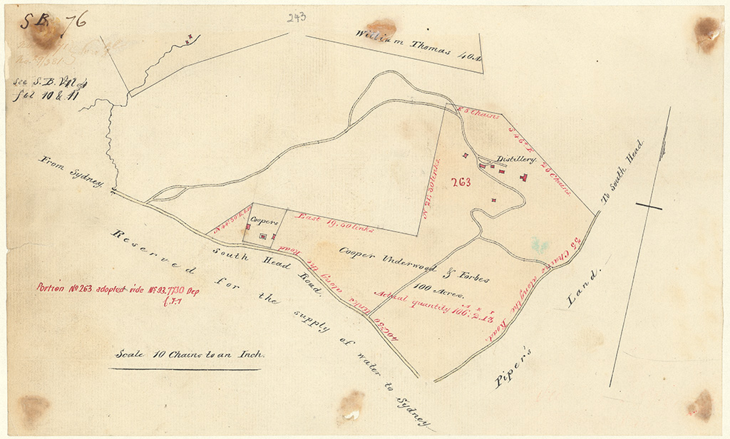 Cumberland County Alexandria - Cooper, Underwood and Forbes 100 acres [Sketch book 1 folio 76]