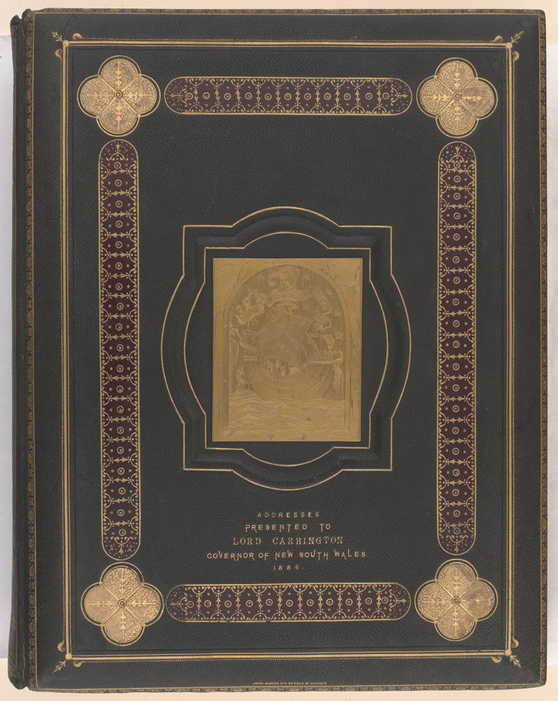 Album of Addresses presented to Lord Carrington as Governor of New South Wales 1886 - [Front Cover]