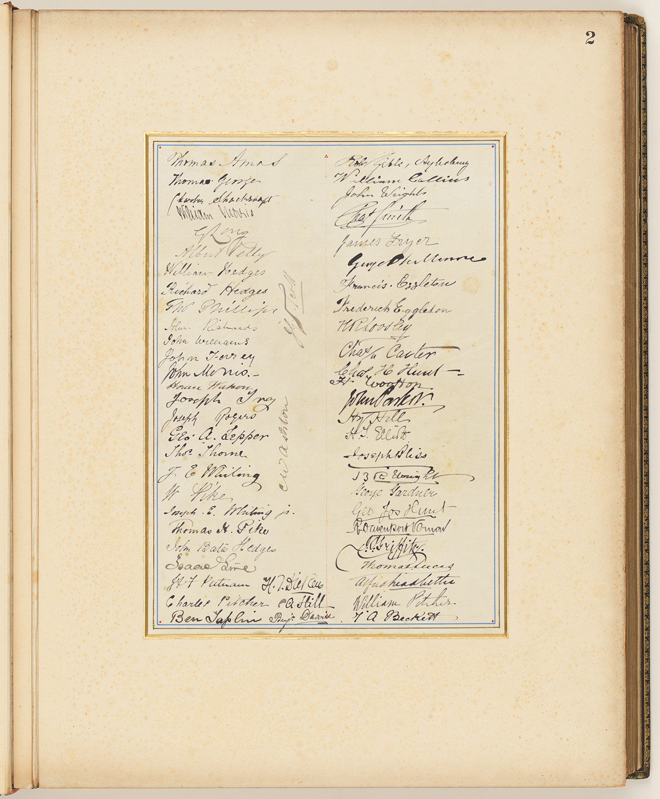 02 Addresses Presented to Lord Carrington Governor of New South Wales No. 4, page 2 signature panel
