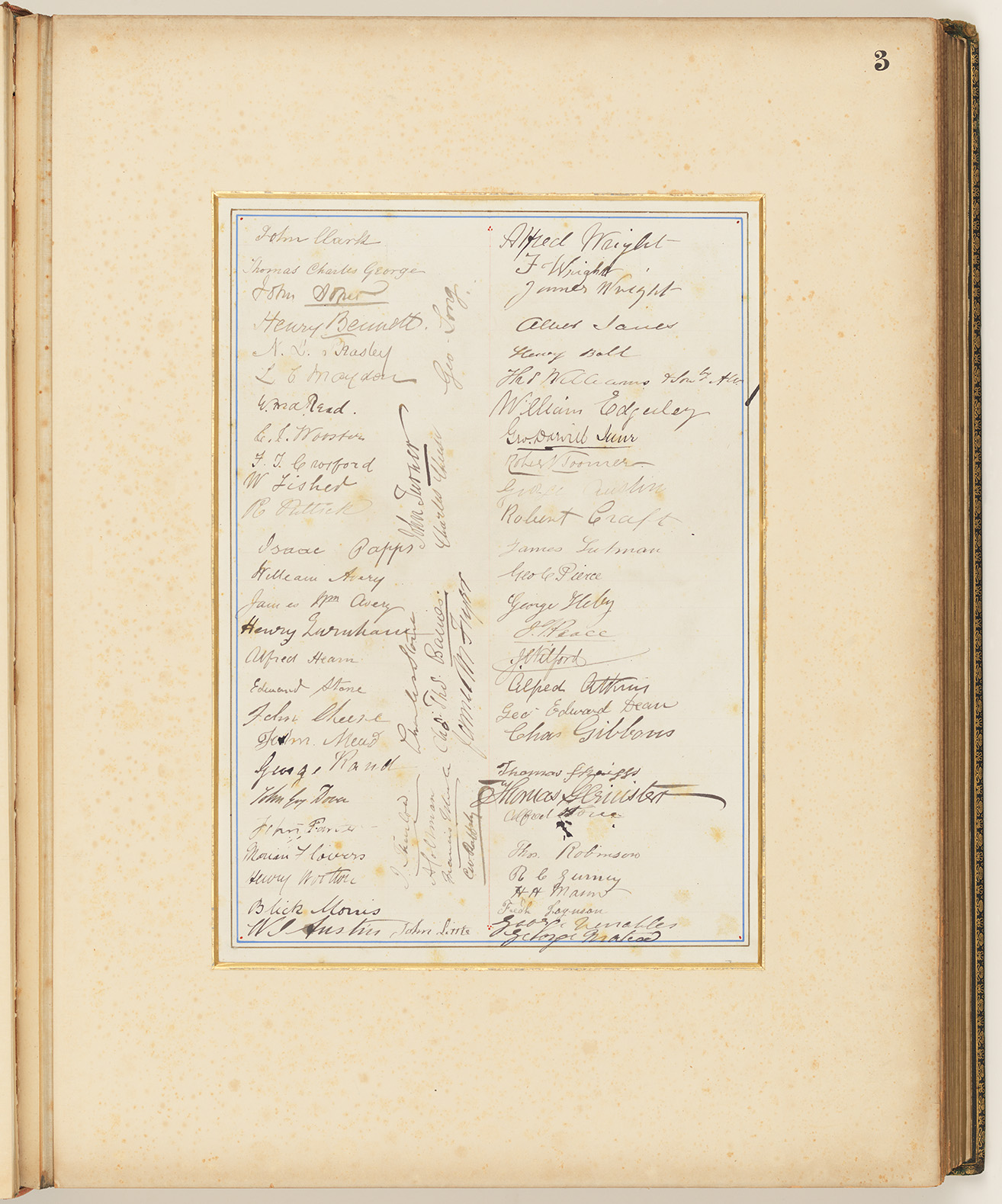 03 Addresses Presented to Lord Carrington Governor of New South Wales No. 4, page 3 signature panel