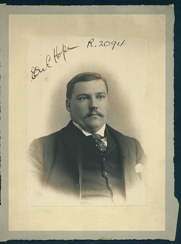 Photograph of Edward Culbertson Hope