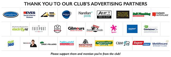Omanu Golf Club Sponsors