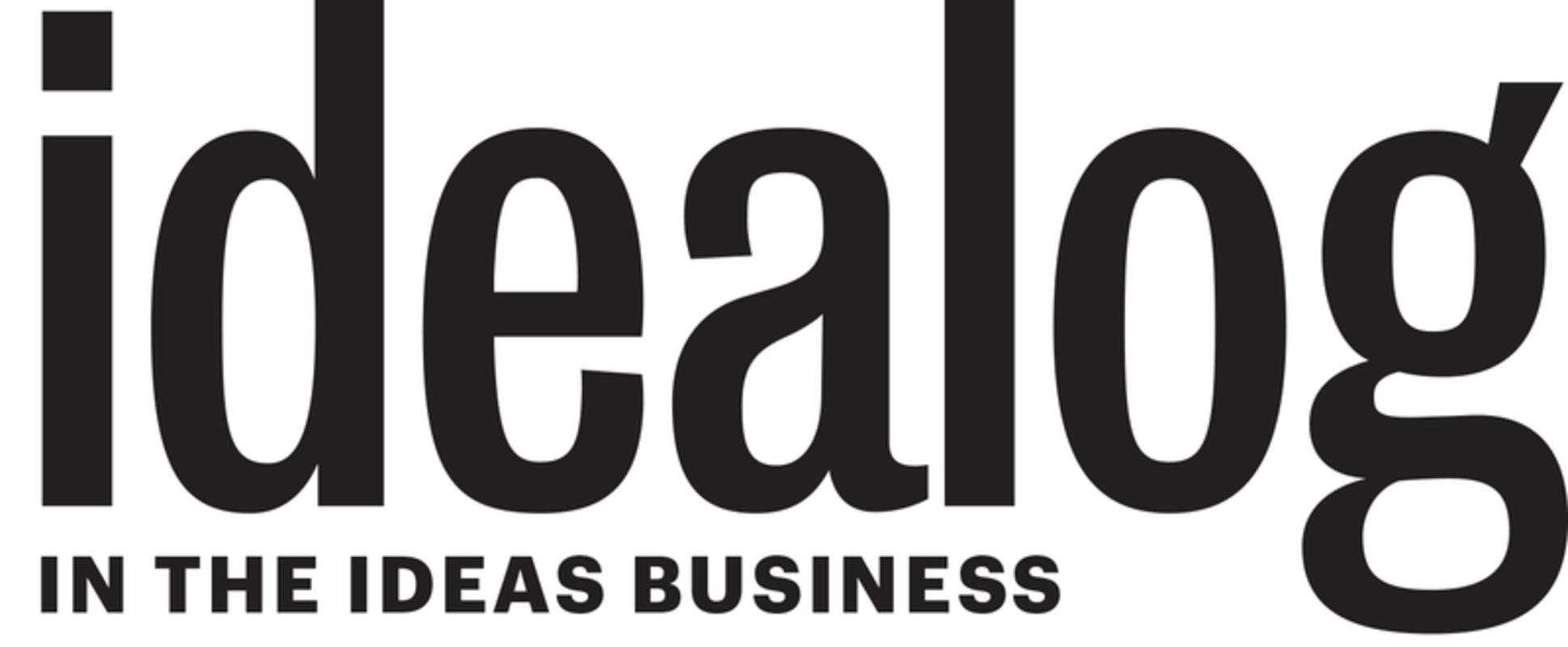 Idealog logo with tag
