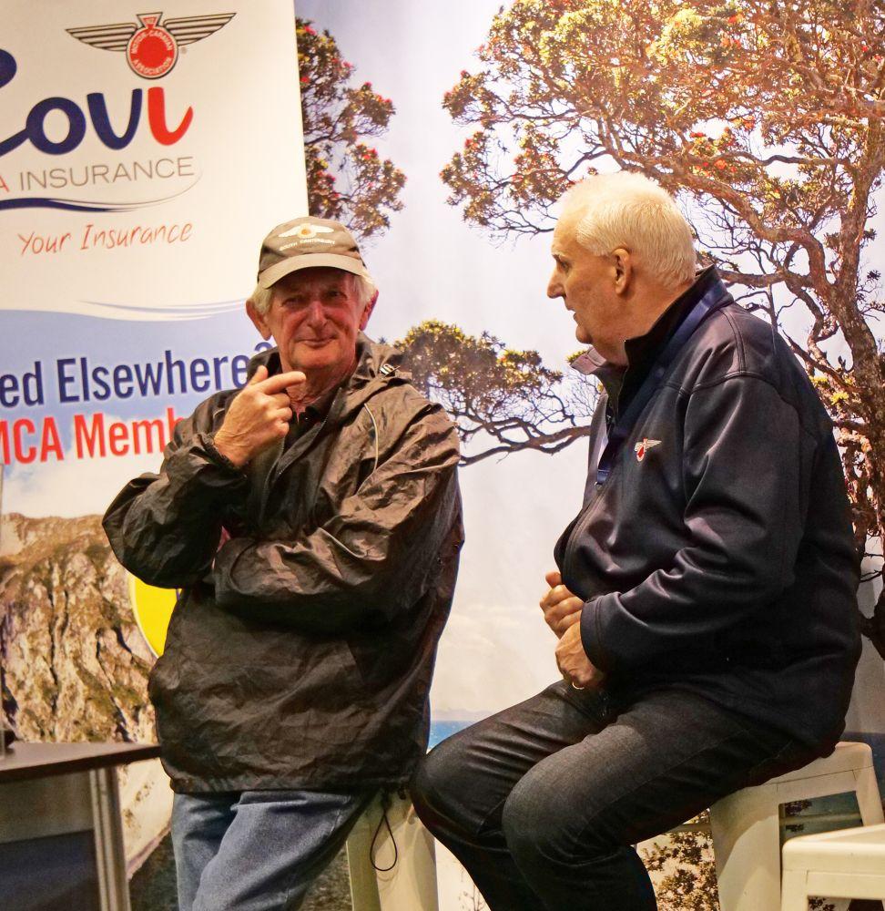 Rally Convenor Bill Paton (left) with NZMCA CEO Bruce Lochore