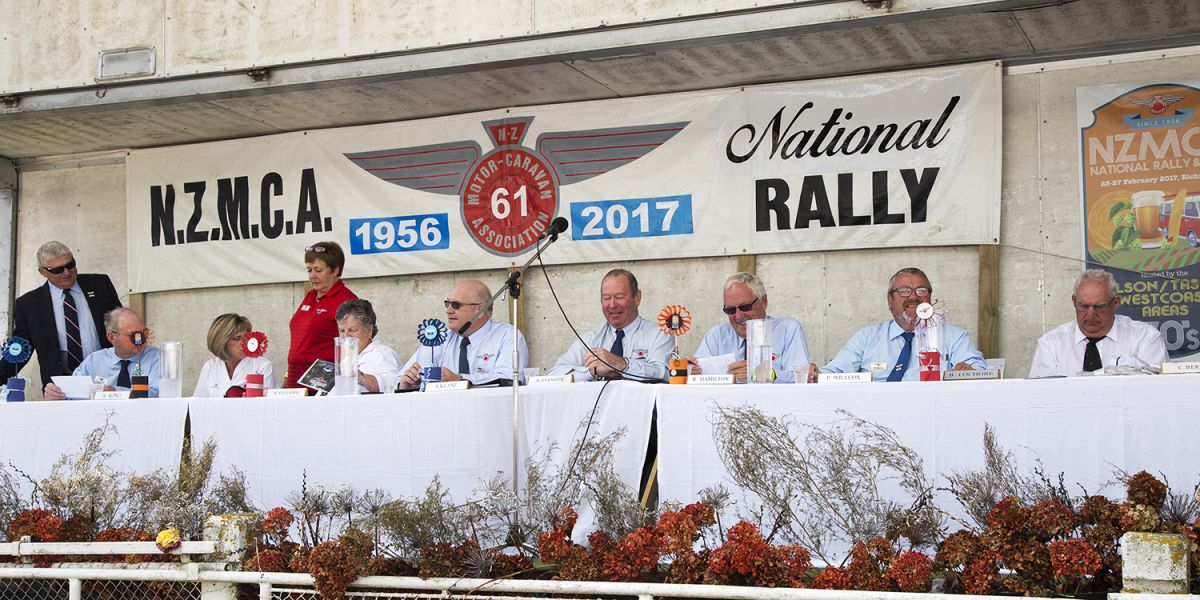 The NZMCA Board at the 2017 NZMCA National Rally & AGM held in Nelson