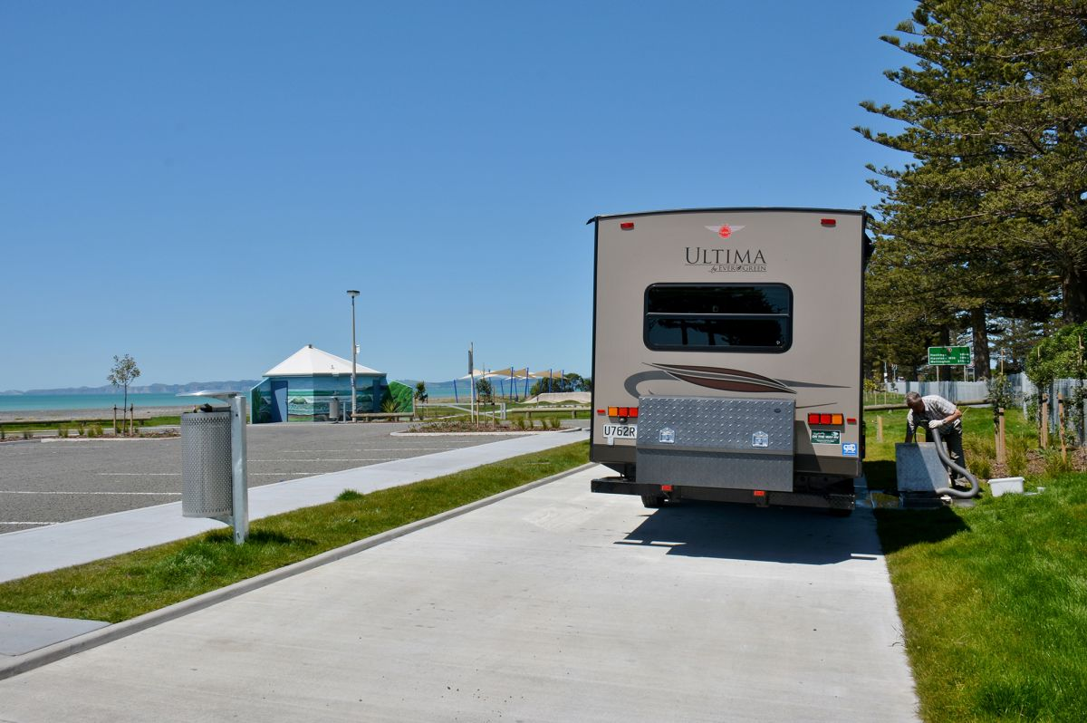Napier public dump station; photo by NZMCA member Shellie Evans