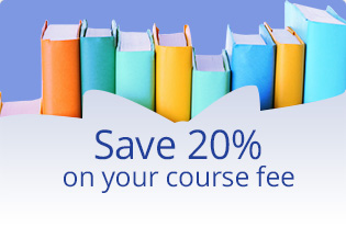Save 20% on your course fee