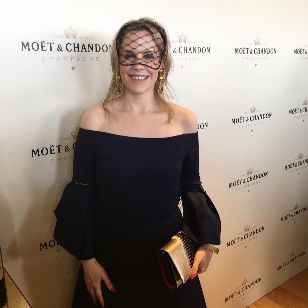 Sarrah Le Marquand at Moet Chandon Stakes Day, answers some Journalism Career Advice Questions