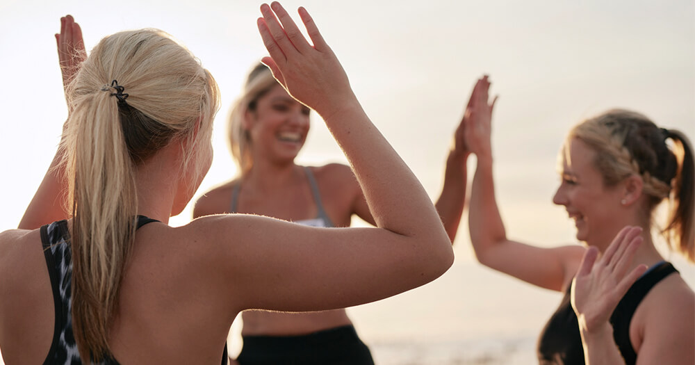 Your fitness clients have rapport and are high 5-ing on the beach