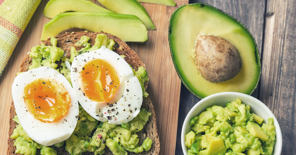 Healthy fruits and vegetables are good and so is avocado on toast with egg