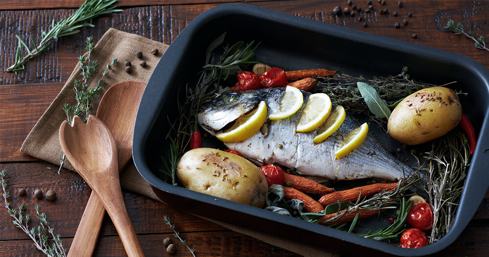 Vitamin B12 rich foods Trout and fish dinner - work and study