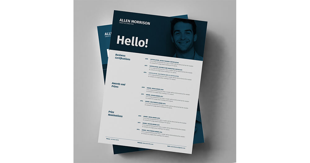 Resumes and photo inclusion