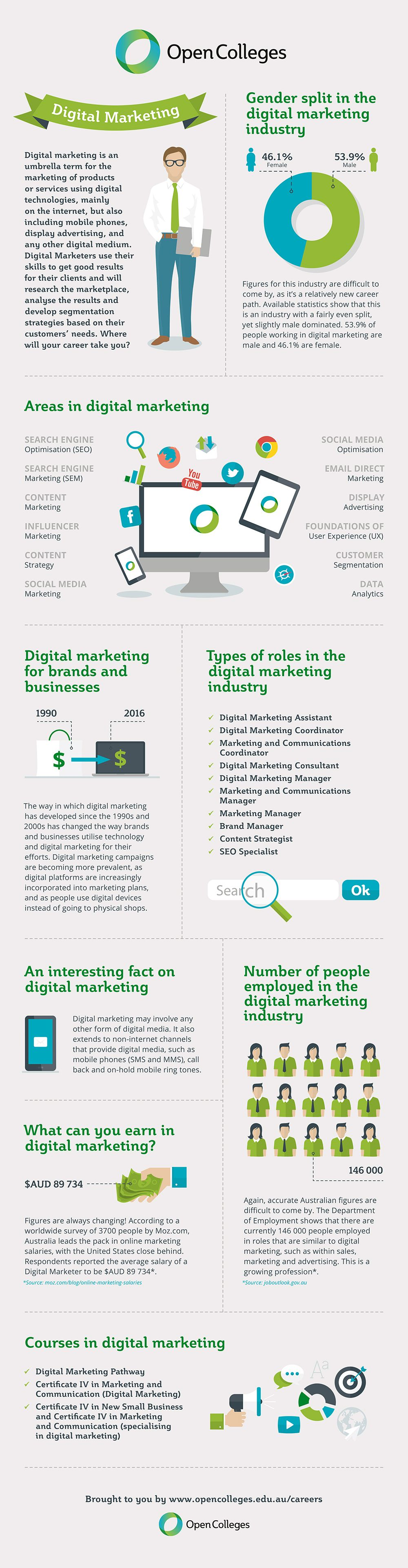 Digital marketing career infographic