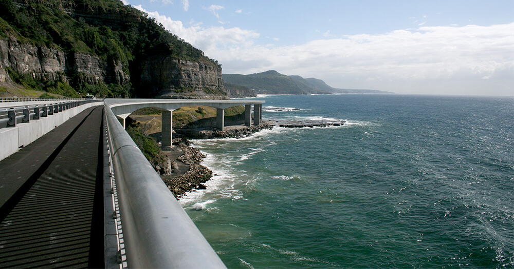 Seacliff Bridge coastal drive, South Coast NSW