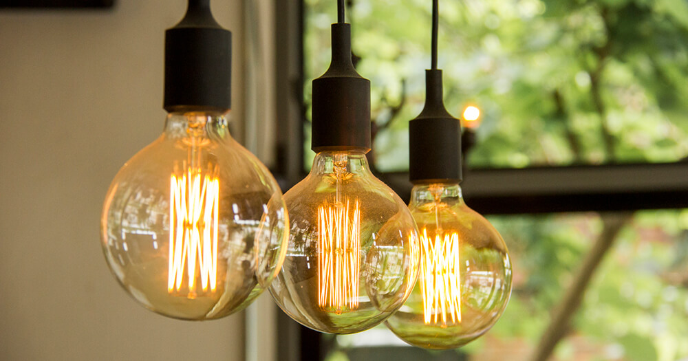Trendy lightbulbs and filaments