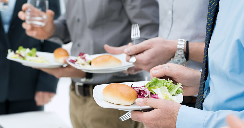 Free healthy lunches - business perks