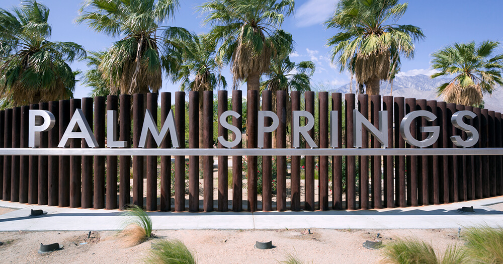Plam Springs sign, home of Coachella music festival
