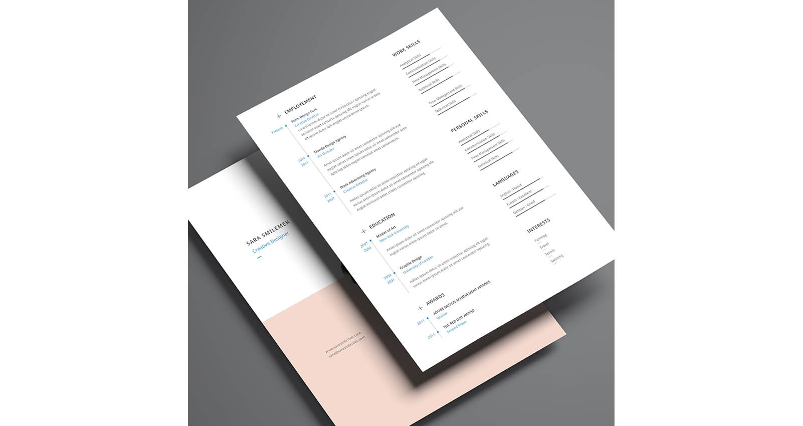 Modern resume design, clean and simple