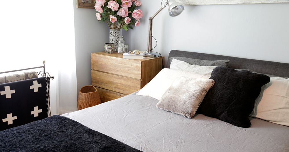 4 ways to achieve a high quality interior without a high budget - cotton linen bed
