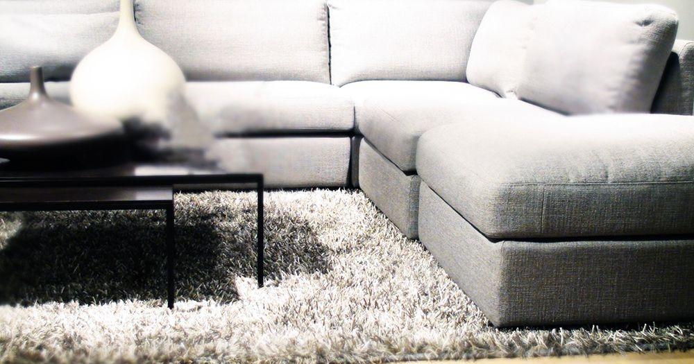 Large fluffy rug