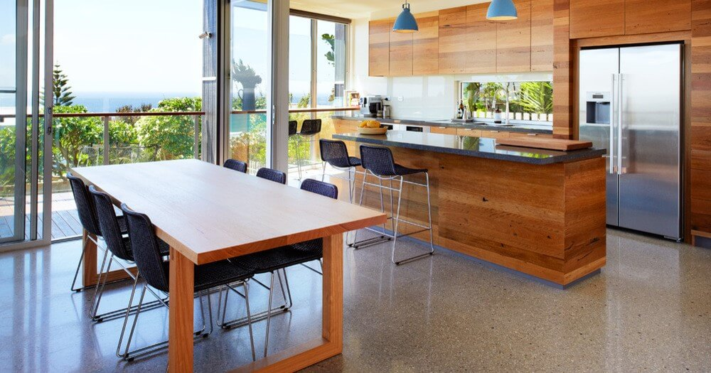 House inspection checklist featuring a beautiful kitchen with ocean views