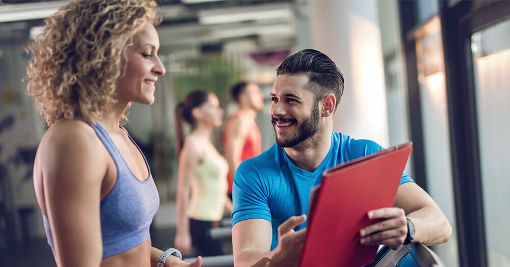 Creative ways to add value to personal training clients in the gym, male and female