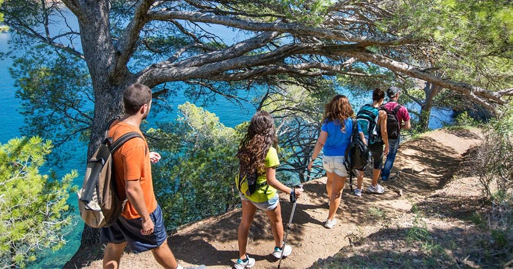 Sustainable tourism - exploring the coast - walking - travelling