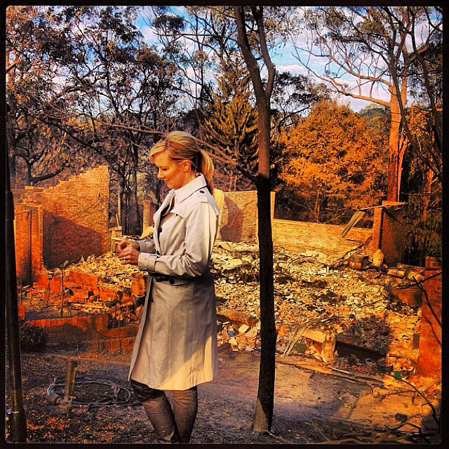 NSW bushfires, Melissa Doyle reporting